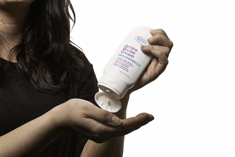 person applying the cream
