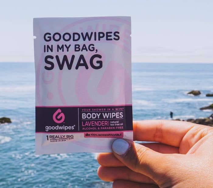 "Plus, they're available in individual packets AKA you can slip one in your gym bag for sweaty workouts that don't leave time for a shower.Promising review: ""I LOVE these things! I like to workout over my lunch hour to break up the day, but don't have time to get lost in my thoughts in a post-shower. I just use one of these! The scent is not too overpowering, but it's strong enough so that no one knows I got my sweat on at the gym."" —Amazon Customer Get a set of 10 from Amazon for $12.99."
