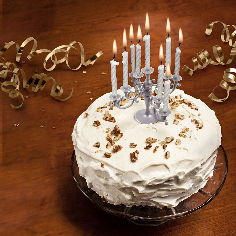 the candelabra on a cake