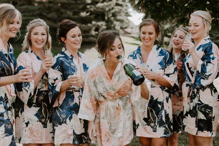 Get it from MagnoliaBlueSouth on Etsy for $15.99+ (available in three sizes and four colors). Since not all bridal parties are comprised of just women, here are some flannels with unisex sizing.