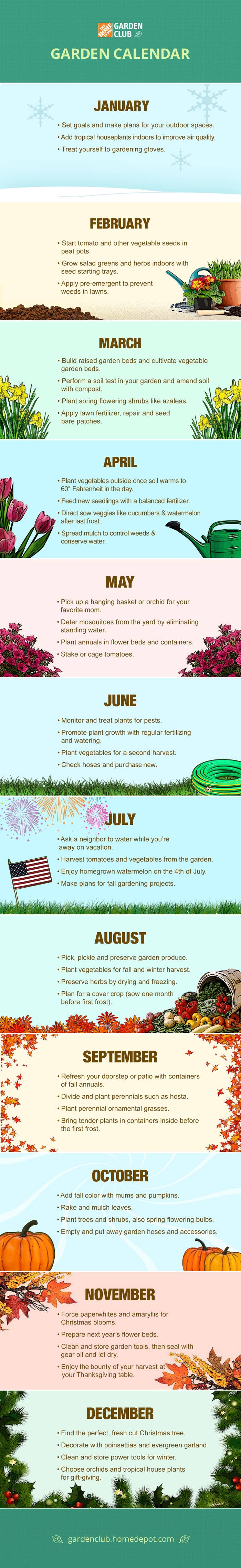 Check out this article by Home Depot to learn more about the best time to plant all your veggies.