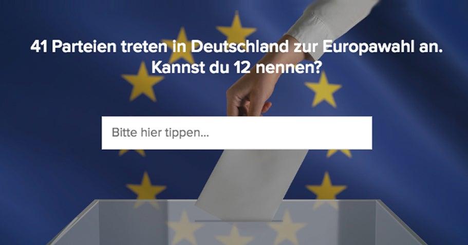 41 Parteien treten zur Europawahl in Deutschland an. Du bist krass, wenn du 12 nennen kannst