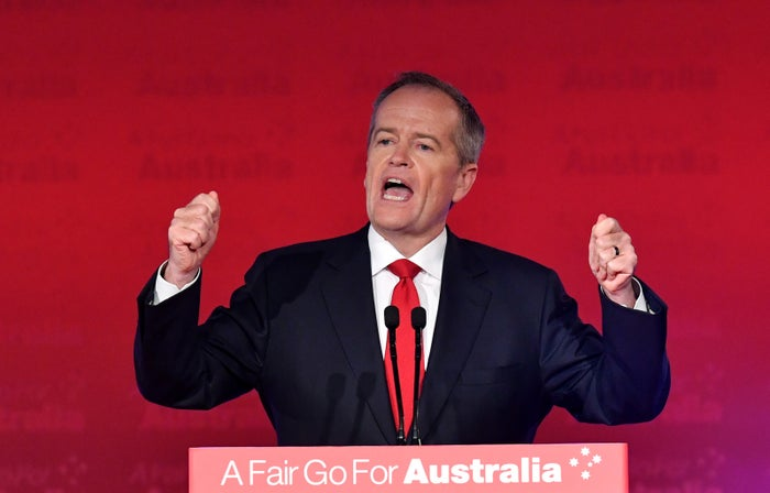 Bill Shorten speaks on May 5 at Labor's campaign launch, where he announced the headspace Plus policy.