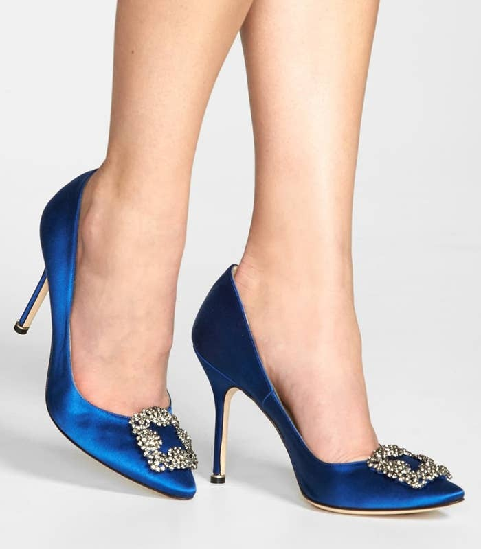 ac5e685c3e6c8 An investment-worthy pair of Manolo Blahnik pumps so classic and so  timeless you can wear them for a lifetime.