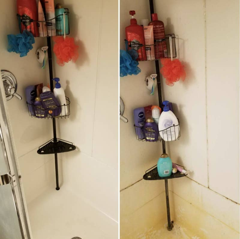 """The gel will cling to spots you apply it to, so it won't run down walls. Promising review: """"Wow! I would give this 10 stars if I could. We've had issues for a few years with the caulking behind the handle of our kitchen faucet turning black from mildew. We've scrubbed with what seems like a million different products, with no luck. We were actually just talking about ripping out the caulking and doing a total replacement. But, my husband saw this online the other day and decided to order it. Almost immediately when he applied it, you could see it was starting to work. We left it on overnight and the black is COMPLETELY GONE! It's incredible. 1000% worth the (small) investment."""" —Nicole D.Get it from Amazon for $12.99."""