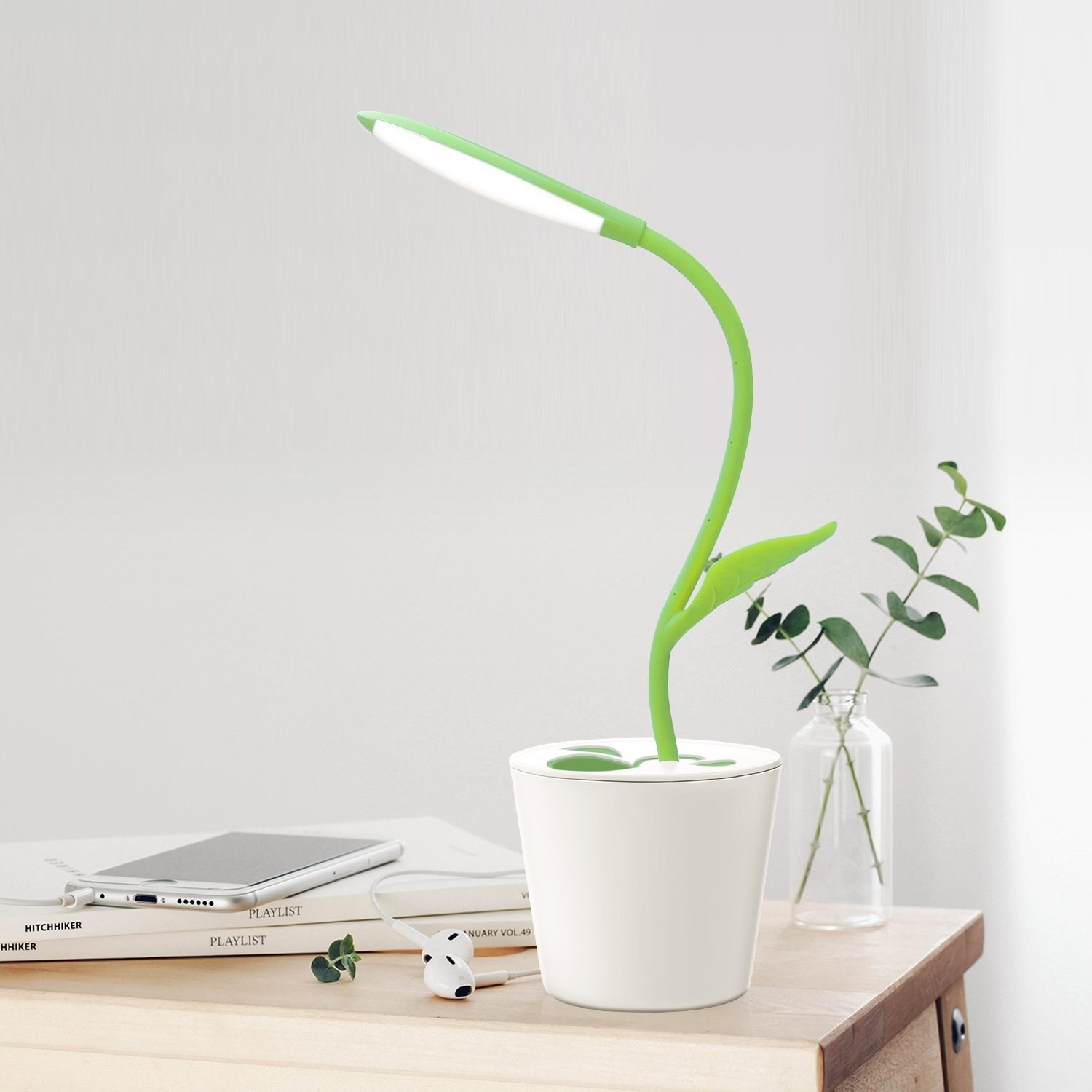 the potted plant desk lamp
