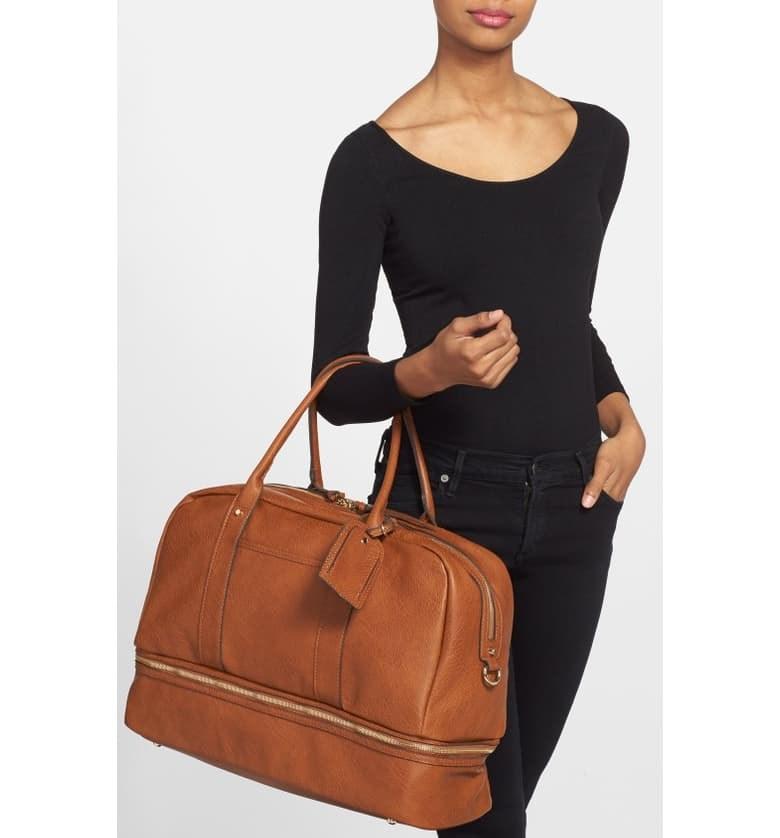 Waterproof Travel Duffel Bag Womens Weekend Bag Green Leopard Mens Luggage Bag For Gym Sports Overnight Trip