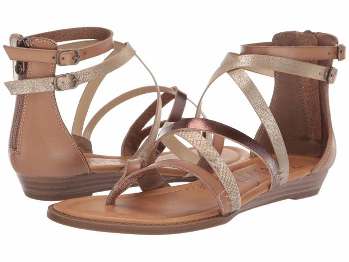 7d9705bf18 Strappy sandals in pretty, muted colors that I'm willing to bet money will  go with every last one of your spring and summer looks.