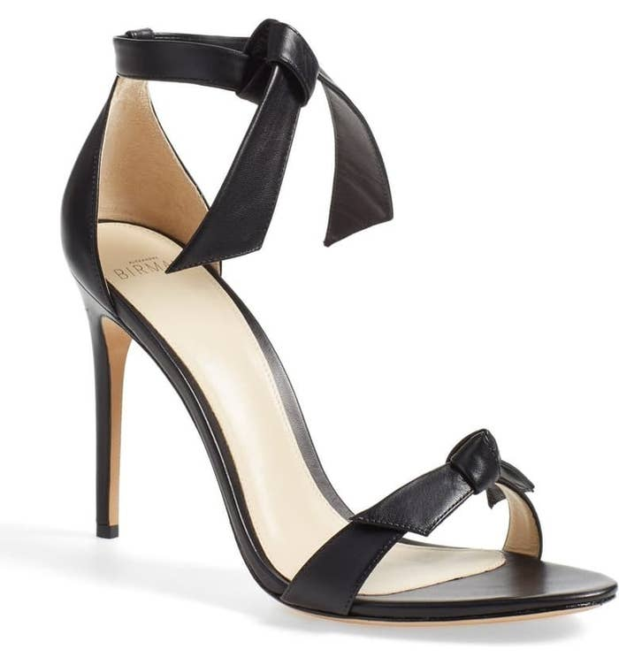 d4f196c7a1 A pair of Brazilian-made Alexandre Birman Clarita ankle-strap tie sandals  that are a gift from the shoe gods — and they even have the bow-tie detail  on the ...