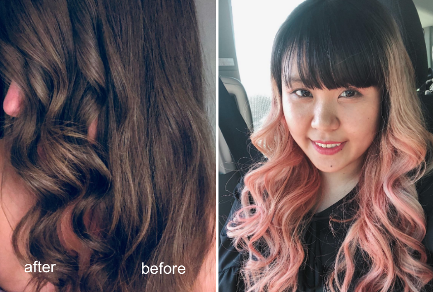 Two reviewers that used the wand to style their hair with loose waves