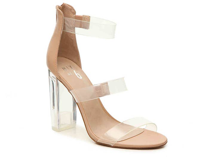 ecaeb13b1f A pair of lucite block heels no one will see coming.