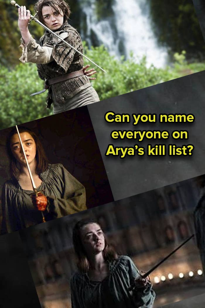 Can You Name Everyone On Arya's List From