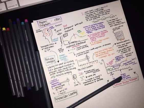 Reviewer image of a colorful study guide made with the markers
