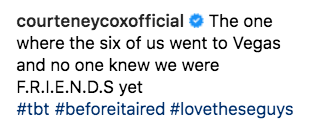 """Courteney Cox Posted A Behind-The-Scenes """"Friends"""" Photo With An Emotional Story Behind It"""