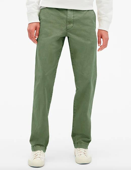 """Promising review: """"These khakis fit perfectly, and they're very comfortable. The length is just right, which is hard for me to find. I can wear these to the office and they also bring some nice style to my time off."""" —DryflyguyPrice: $29.99+ (available in sizes 28-42, regular and tall, and 10 colors)"""