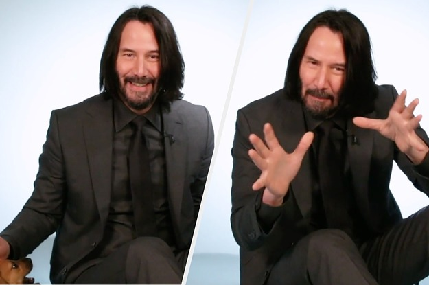 Keanu Reeves Plays With Puppies While ...