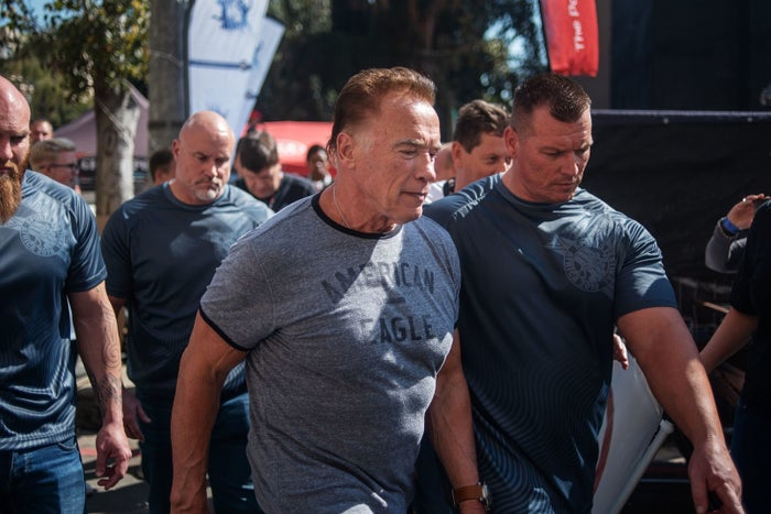 A Man Dropkicked Arnold Schwarzenegger. He Says He Didn't Even Realize It Happened.
