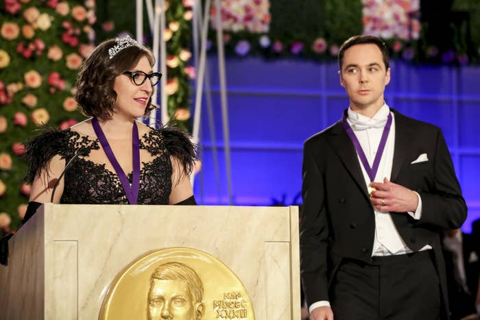 After anxiously awaiting the news, Sheldon and Amy learn that they've received the Nobel Prize in Physics.