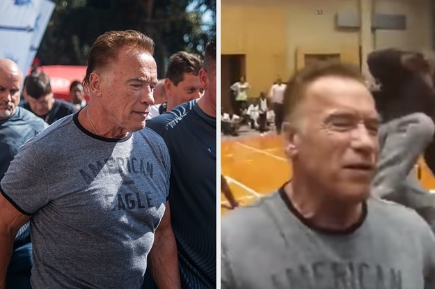 A Man Dropkicked Arnold Schwarzenegger In The Back. He Says He Didn't Even Realize It Happened.