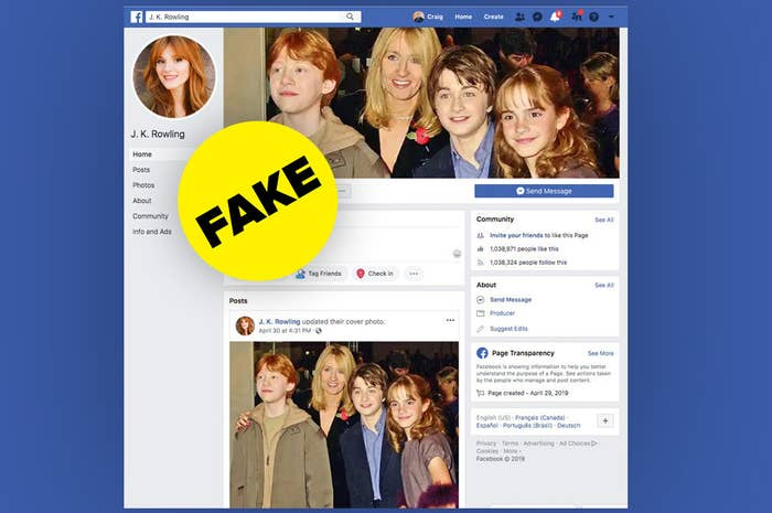 The Hot New Facebook Grift Is Stealing Huge Pages About Celebrities And Films From Facebook Itself