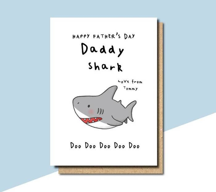 43e8b0c52 ... Day card inspired by that dreadful, he-who-must-not-be-named song that  is probably stuck in your head at this very moment. *proceeds to hum baby  shark ...