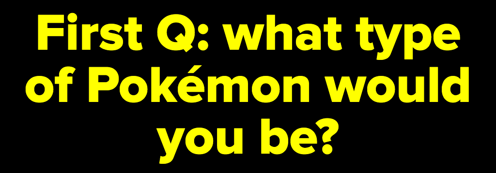 "Which ""Detective Pikachu"" Pokémon Are You?"