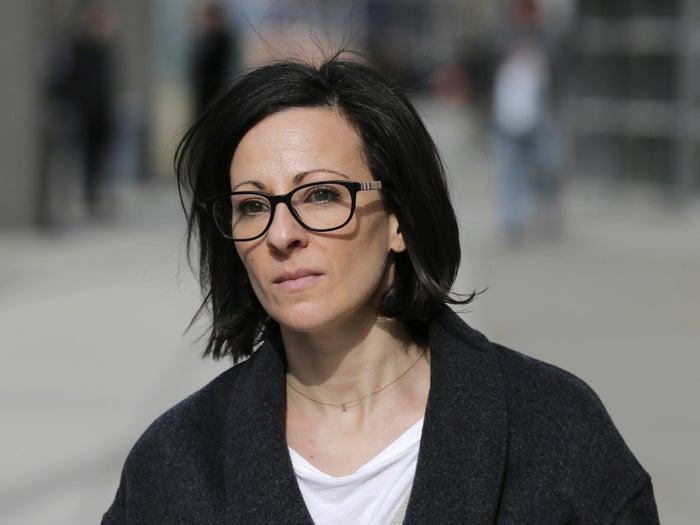 Lauren Salzman leaves Brooklyn federal court in New York on Jan. 28.
