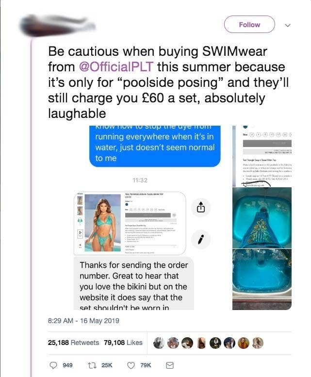 6601fadd78c17 Her tweet capturing the moment she attempted to hand wash her bikini and  the response from the brand has been shared more than 25,000 times and  generated ...