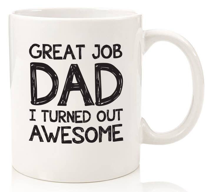 """Promising review: """"My dad just loves the mug. The handle stays cool as he heats water in the mug for his daily coffee, a bonus I wasn't counting on. He is 80 and this is just a sweet gift."""" —Hadyra StinebuckGet it from Amazon for $16.97."""
