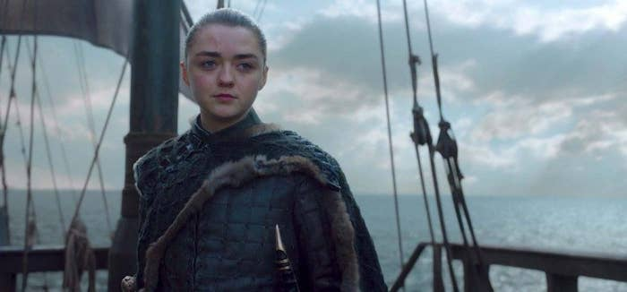 "Arya sailed west, and the last anyone heard of her was from one final raven sent from her ship, reporting to Sansa: ""Land has been spotted, all will be well."""
