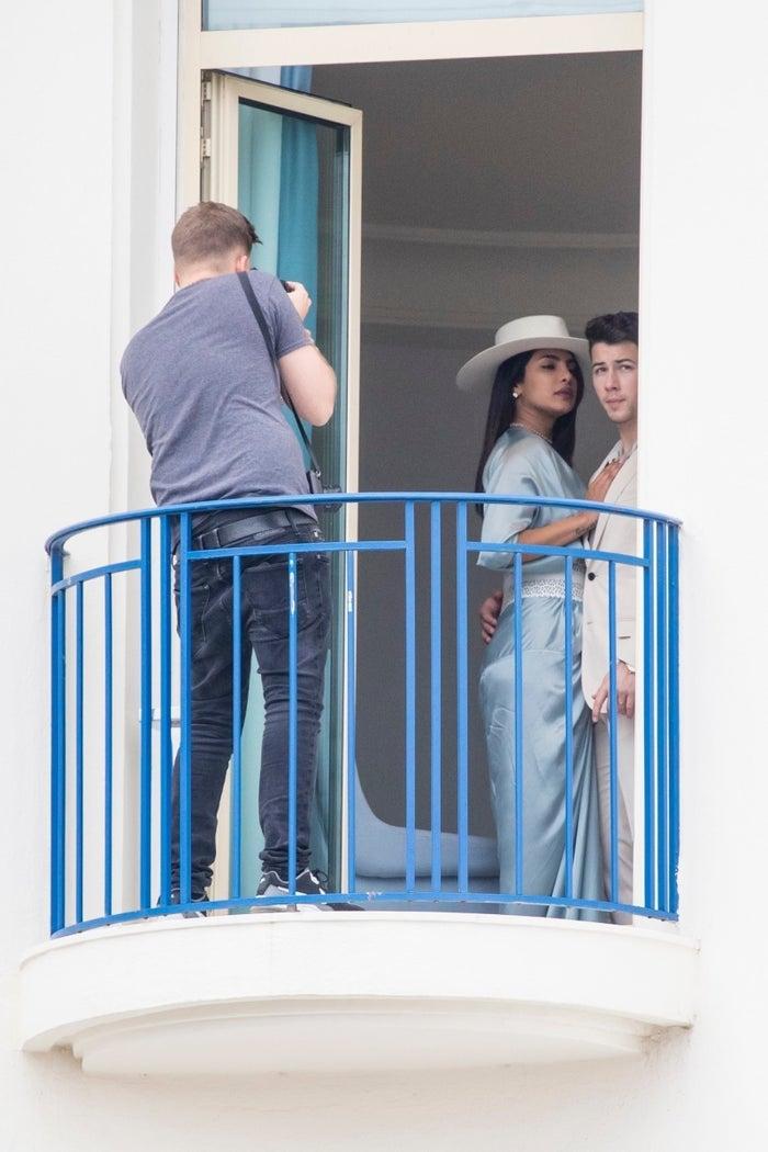Nick Jonas Very Casually Feeds Priyanka Chopra Pizza On Their Balcony In Cannes