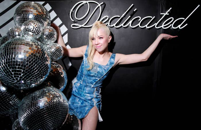 Carly Rae Jepsen at a Spotify event for her new album, Dedicated, on May 11.