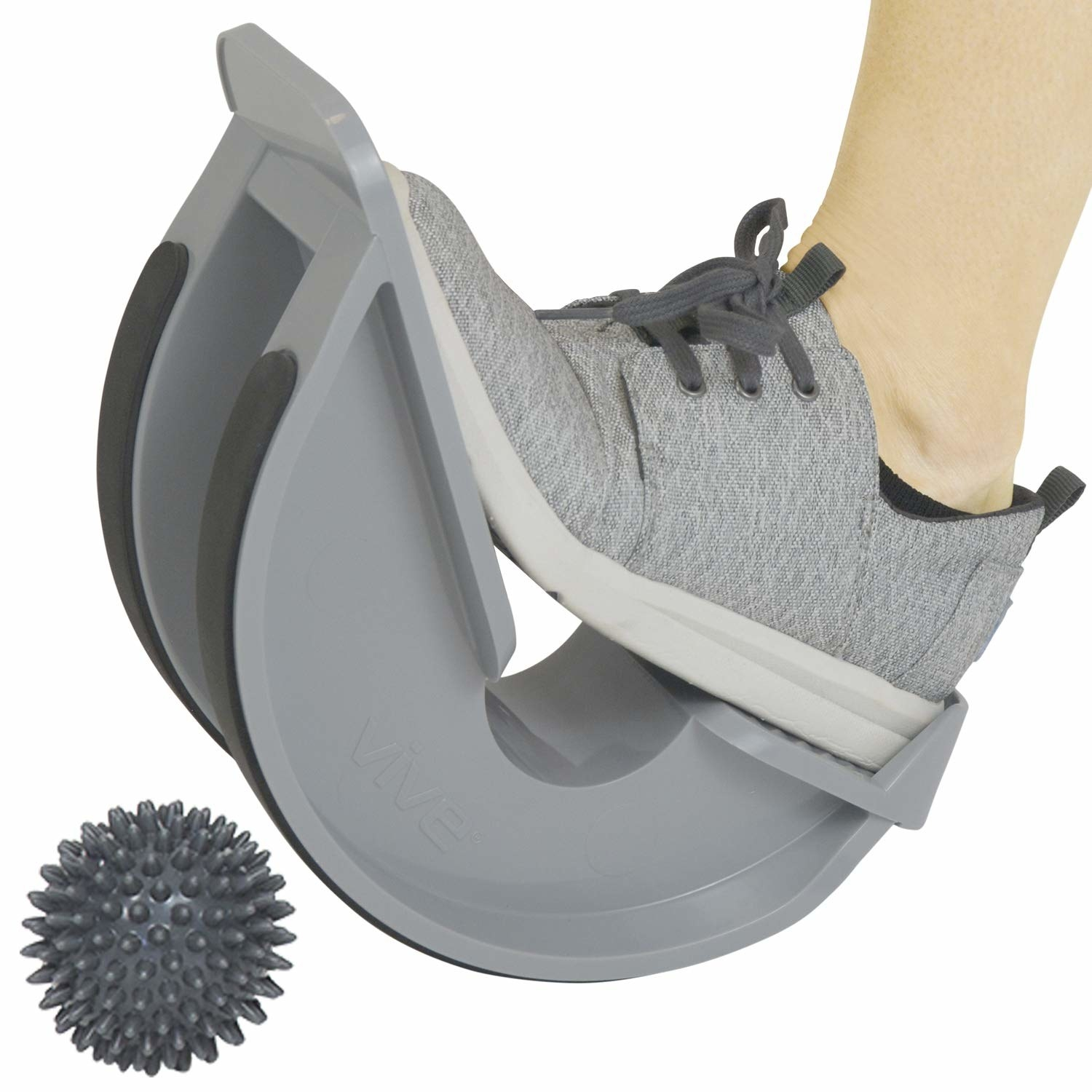 foot stretches on u-shaped stretcher