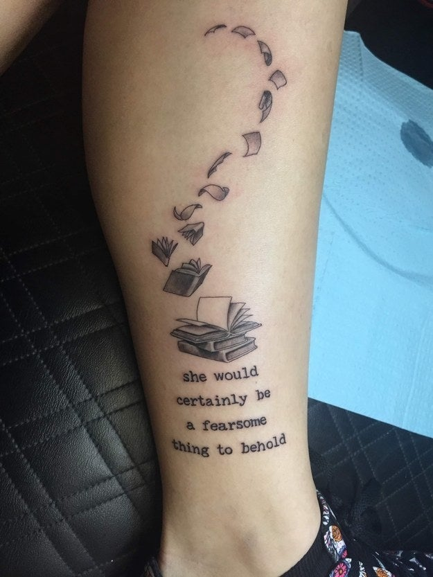 24 Book Quote Tattoos That Are Equal Parts Heartwarming And Beautiful
