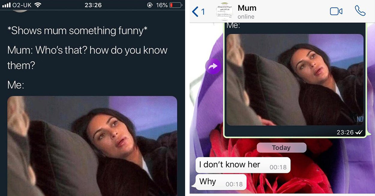 People Are Showing Their Moms This Kim Kardashian Meme And It's Not Going As Planned