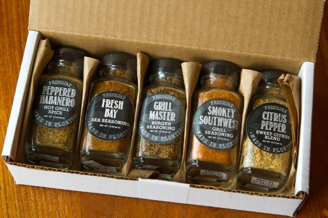 Closeup of spice set