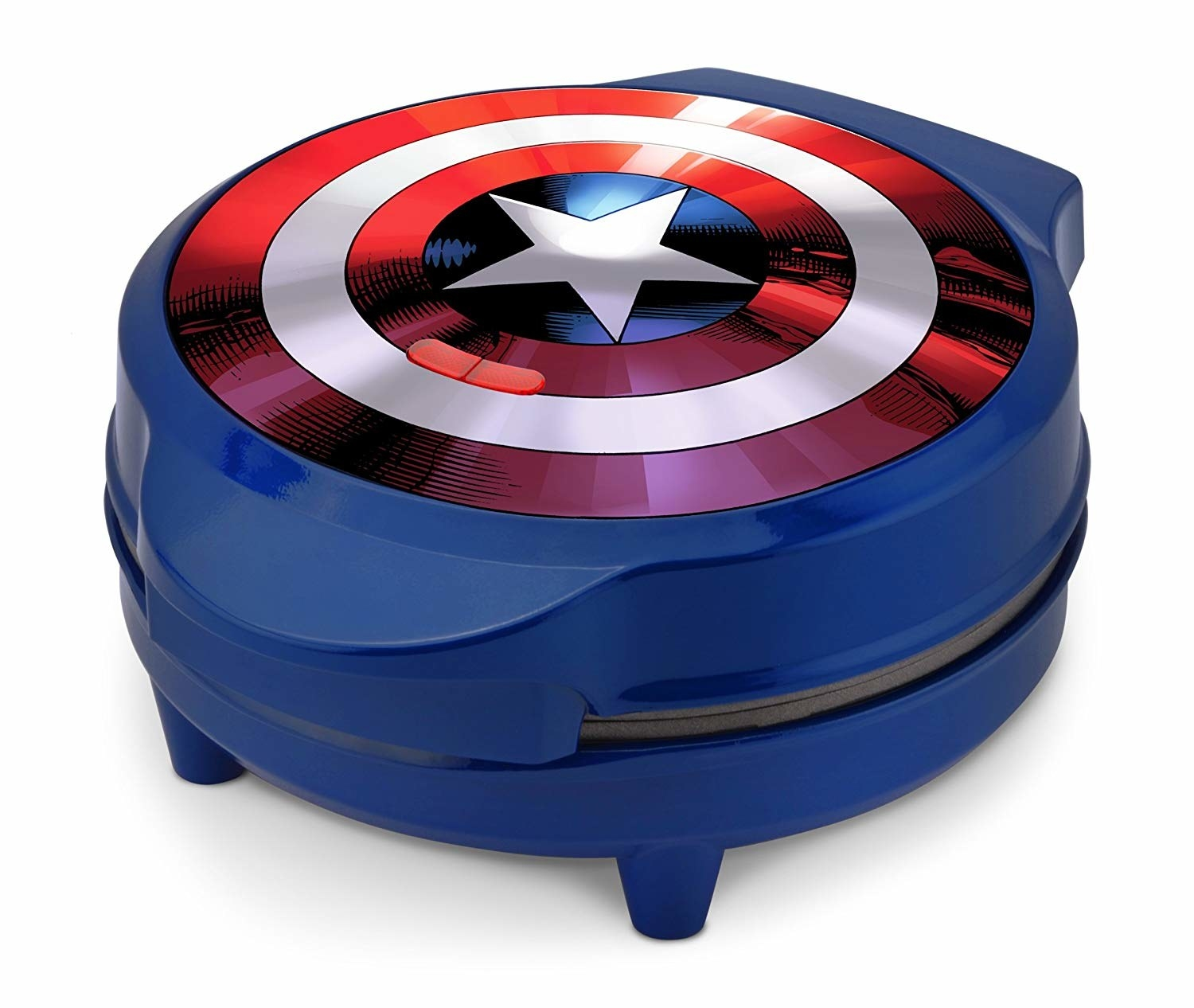 Blue Marvel Captain America Waffle Maker with shield on the top
