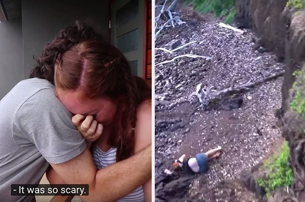 A YouTuber Dramatically Described Seeing His Wife Fall Off A Cliff And — I Know, This Is Shocking — It Became A Meme