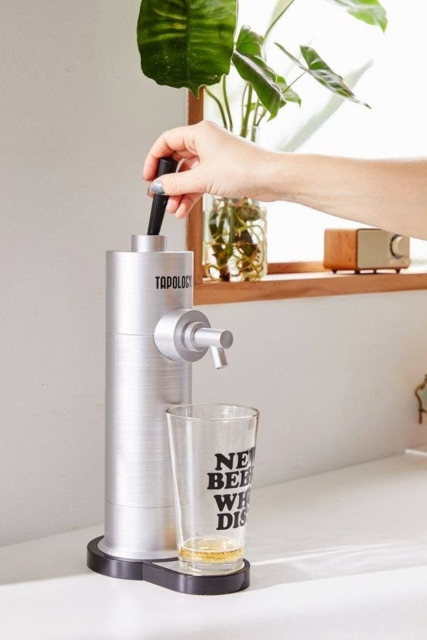 Throw a 12 ounce can of beer in the back and watch this bubble up into a drink that tastes straight from the tap! Get it from Urban Outfitters for $79.95 or, if he prefers wine, grab this pocket-sized wine aerator from Amazon for $9.99.