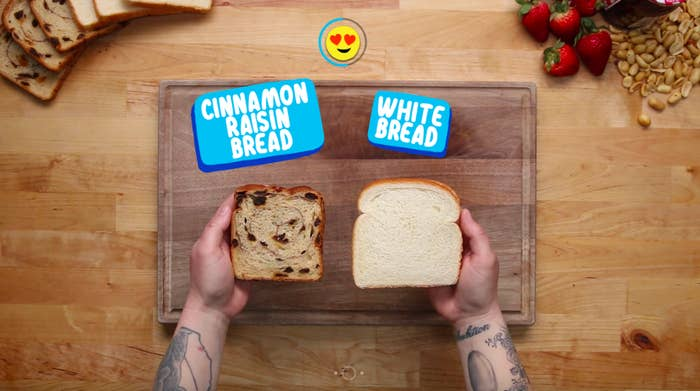 Do you want each bite to have a cinnamon-raisin burst of flavor or let your spreads reign supreme? Simply click on your choice and then you'll be guided to the next option.