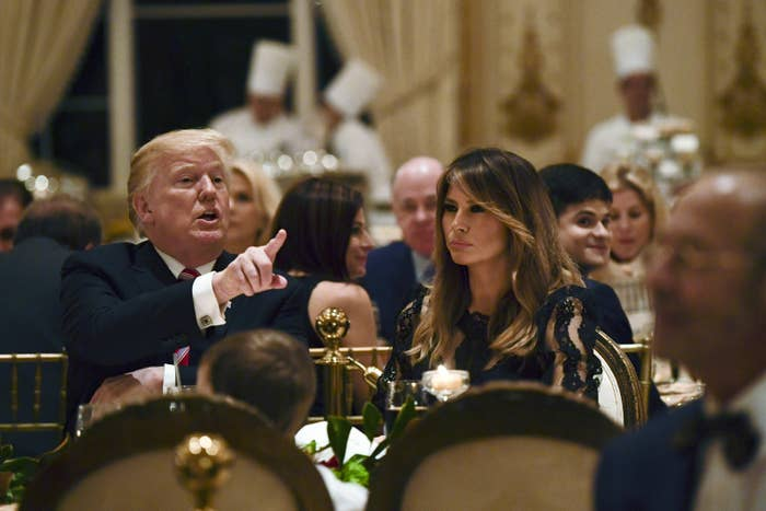 Thanksgiving Day dinner at Mar-a-Lago on Nov. 22, 2018.