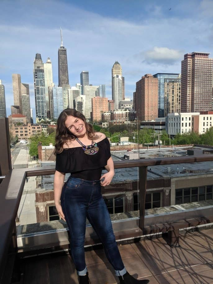 """""""I'm originally from Velika Kladuša, Bosnia and Herzegovina, and, like thousands of fellow Bosnian Muslims, was forced to flee due to the threat of war and systematic violence. We had relatives who had fled just a couple months prior and helped us apply for refugee status.""""What Ermina loves most about Chicago: """"My favorite thing about living in Chicago is the pockets of culture all across the city. There are many diverse neighborhoods offering different foods, experiences, and entertainment. In one day, I can grab a cuban sandwich for breakfast atNini's Deliin West Town, authentic Mexican tacos for lunch atAtotonilcoon the other side of the city, slide to Pilsen and snag somecandy atDulcelandia, thelargest retail and wholesale distributor of Mexican candy in the Midwest, and then finally for dinner, grab some fried chicken with Hienie's famous hot sauce atHienie's Shrimp Houseon the Southeast Side."""""""