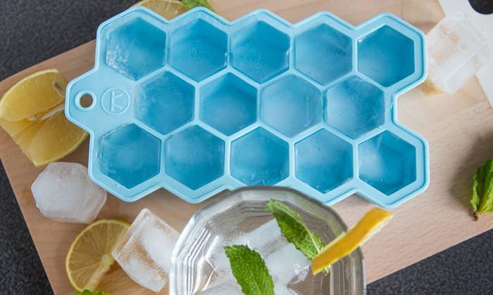 This ice cube tray is made of 100% food-grade silicone and is dishwasher-safe.Price: $9.82