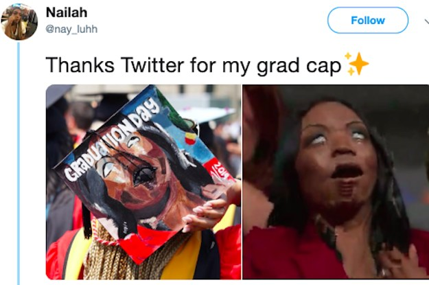 55b252206 18 Hilarious Graduation Caps That Absolutely Nailed It