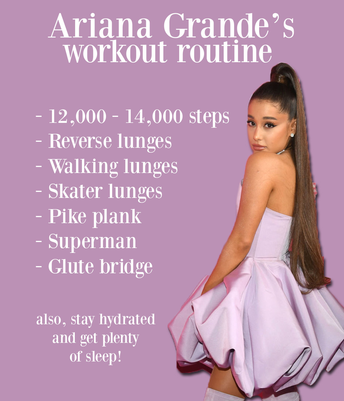 photo relating to Dr Oz 7 Minute Workout Printable named Ariana Grandes Exercise session And Food plan Program Is Challenging, Thus