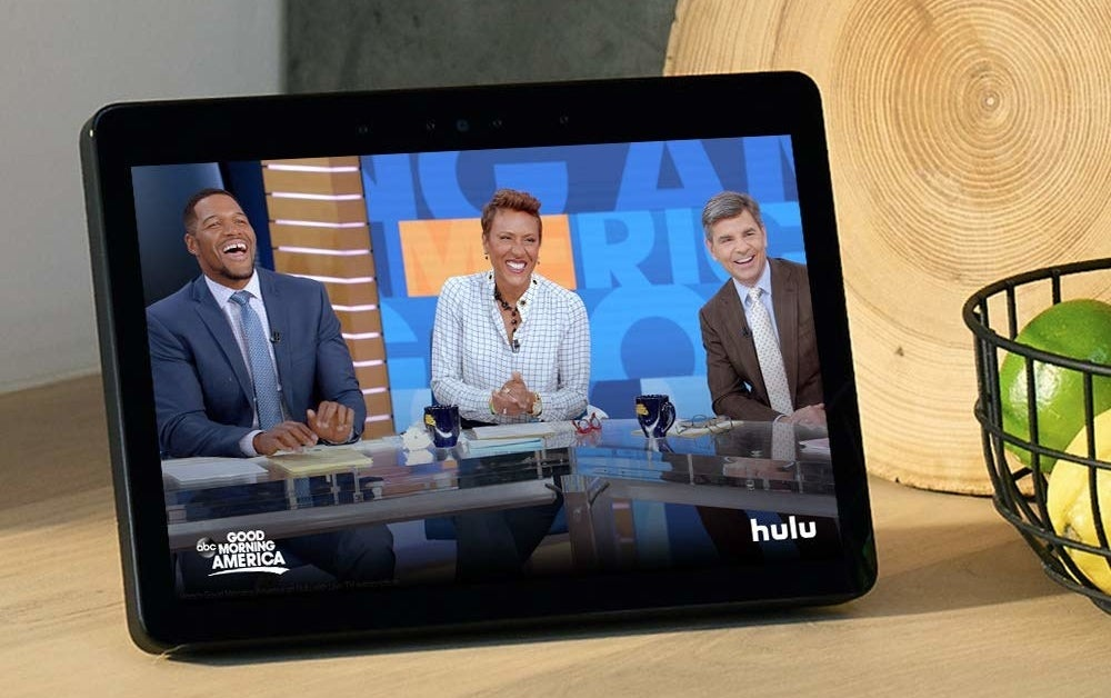 product shot of Echo showing an episode of Good Morning America