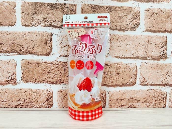 ふわふわのホイップクリームが超簡単に作れちゃう革命的アイテムです。