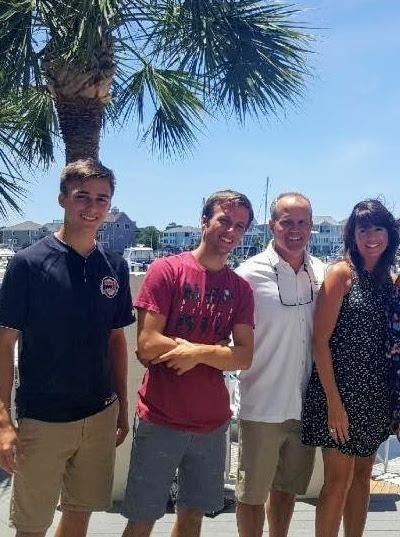 Brandon Poletti, 20 (second from the left), with his brother Austin, 18; father, Dave; and mother, Sharon.