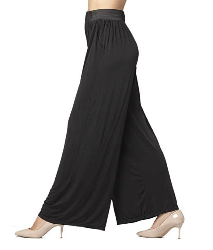 1b6eb01abfca High-waisted one-size-fits-all palazzo pants that you can pull out for any  occasion.