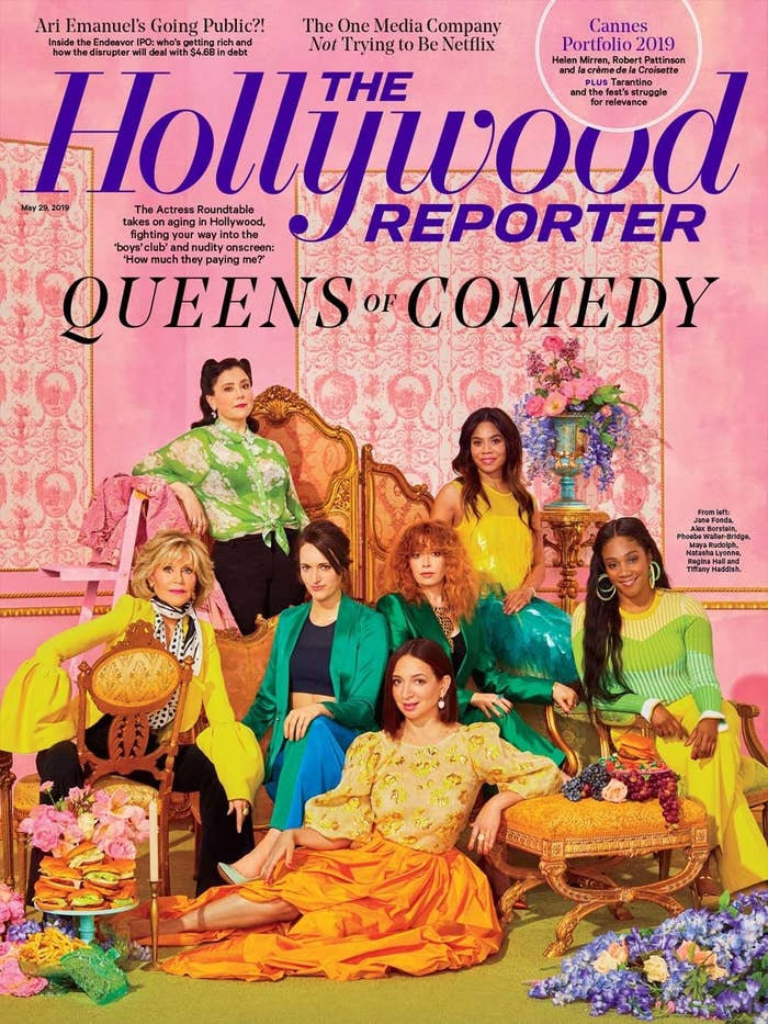 The stars were also featured in the 'zine's annual Comedy Actress Roundtable, where they reflected on their career paths, their hard-earned success and fame, and the politics of being a woman in comedy.
